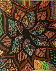 ColorIt Colorful Flowers Volume 1 Colorist: Diane Cole #adultcoloring #coloringforadults #adultcoloringpages #flowers