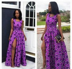 Manche courte et pte fente Long African Dresses, African Print Dresses, African Print Fashion, African Fashion Dresses, African Attire, African Wear, African Style, Afro, African Blouses