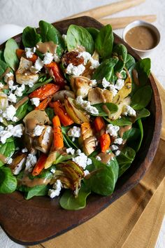 Roasted Root Vegetable Salad Recipe with Feta and Balsamic-Date Dressing // Aida Mollenkamp