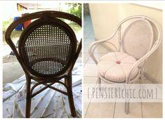 Restauro di una sedia da giardino Shabby, Interiors, Chair, Handmade, Diy, Furniture, Home Decor, Style, Houses