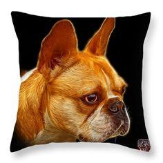 French Bulldog Pop Art - 0755 BB Throw Pillow by James Ahn