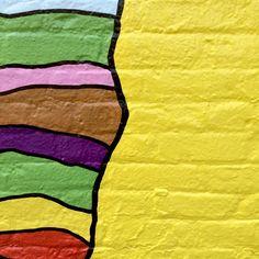Rainbow colored walls of NYC. #brooklyn #brick #colorful
