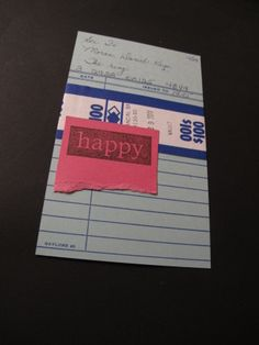 Index Card A Day 2014: card #17. Happy with a money wrap.