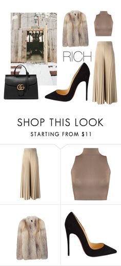 """RICH WOMAN"" by badga ❤ liked on Polyvore featuring Givenchy, WearAll, Derek Lam, Christian Louboutin and Gucci"