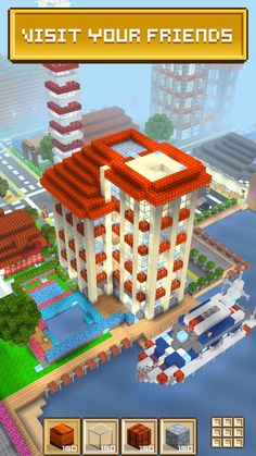Modern House Construction Mod Apk - Modern House Construction Mod Apk, Modern Minecraft House Design Ideas for android Apk Modern Minecraft Houses, Minecraft House Designs, Building Games, 3d Building, Minecraft Bridges, Block Craft, City Buildings, Fun Games, Construction