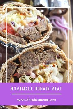 Frugal Food Items - How To Prepare Dinner And Luxuriate In Delightful Meals Without Having Shelling Out A Fortune Love Donairs As Much As We Do? Hand crafted Donair Meat Is Super Easy And Very Tasty. Intrigue Your Friends By Making It At Home. Donair Meat Recipe, Donair Sauce, Meat Recipes, Vegetarian Recipes, Cooking Recipes, Recipies, Shawarma, Meat Appetizers, Appetizer Recipes