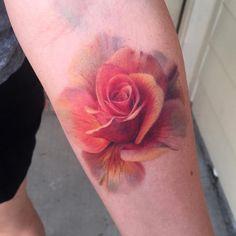 Tattooed by Deanna Smith at Dark Age Tattoo Studio Ink Master, Dark Ages, Tattoo Studio, Girl Tattoos, Watercolor Tattoo, Tatting, Floral, Instagram, Art
