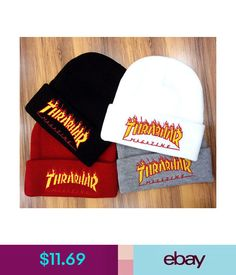 3fe17ecc669  11.33 - 2018 Men Women Thrasher Beanie Logo Winter Warm Hat Cap 17Fw Free  Shipping