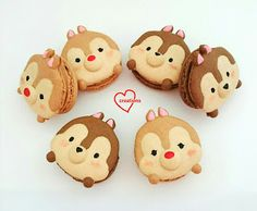 Loving Creations for You: Tsum Tsum Chip and Dale Earl Grey Macarons