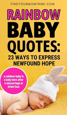 A stillbirth is a great shock, but a rainbow baby arrives as a miracle. These rainbow baby quotes depict the feelings perfectly. #rainbow #baby #miracle #new #life #hope #family #love #happiness #blessing Newborn Baby Quotes, Cute Baby Quotes, Baby Girl Quotes, Second Baby, First Baby, Rainbow Baby Quotes, Funny Babies, Cute Babies, Baby Captions