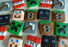 Minecraft cookies by Flour-De-Lis