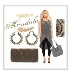"""""""Mandala"""" by myfashionvault ❤ liked on Polyvore featuring even&odd, Daisy's, Miraclebody Jeans by Miraclesuit, The Sak, Casetify and Puck Wanderlust"""