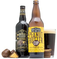 Peanut butter cup, candy bar milk stout, sponge candy, oh my5 most-wanted candy beers #beer #candy