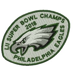 Philadelphia Eagles LII Super Bowl Champs Embroidered Patch. $6.25, free shipping! Embroidered Patch, Philadelphia Eagles, Iron On Patches, Champs, Super Bowl, Free Shipping, This Or That Questions