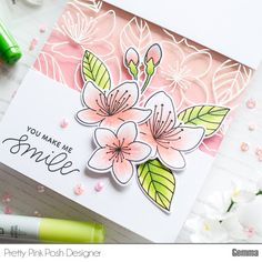 neat way to do top of card. Pretty Pink Posh March 2018 Release Blog Hop – mygirllollipop