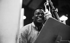 Miles.  A rare one of the man smiling.  I fell in love with Miles Davis in the early 90s when Joe Cunningham (The Blue Cranes, Sponge, Decemberists) opened me up to Miles' Ascenseur Pour L'Echafaud and A Tribute to Jack Johnson.  To this day I am amazed at the musicality the man carried through different genres.