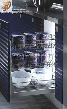 Khay kệ ba ngăn inox Higold - 305001