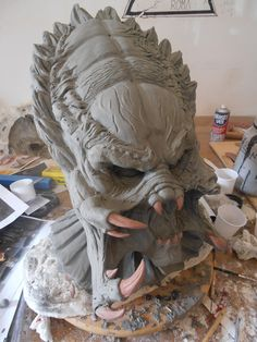 Predator Wolf sculpt for mask by StudioLaboratorio51