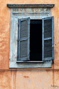 window + shutters, rome