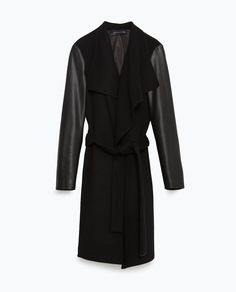 COAT WITH COMBINATION SLEEVE-View all-Outerwear-WOMAN | ZARA United Kingdom
