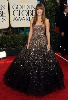Olivia Wilde from Best Golden Globes Looks Ever dans Fashion Police Vestidos Marchesa, Marchesa Dresses, Olivia Wilde, Strapless Dress Formal, Prom Dresses, Oscar Dresses, Dresses Uk, Long Dresses, Homecoming Dresses