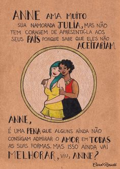 Carol Rossetti trabalha com ilustração, design, feminismo e quadrinhos. Carol Rossetti is a brazilian artist working with illustration, feminism and comics. Intersectional Feminism, Equal Rights, Patriarchy, Faith In Humanity, Social Issues, Girl Power, Equality, Just In Case, Positivity