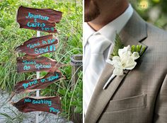 beach wedding, aqua, Casa Ybel, beach sign, toes in the sand |  Anastasia and Curtis | Married � @Kristen Weaver