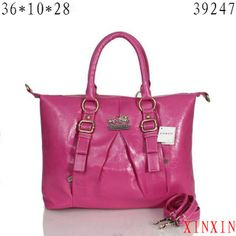 Look Here! Coach In Signature Medium Fuchsia Satchels ASF Outlet Online Coach Handbags Outlet, Designer Handbags Outlet, Designer Leather Handbags, Coach Outlet, Coach Purses, Purses And Handbags, Branded Handbags Online, Handbags Online Shopping, Designer Inspired Handbags