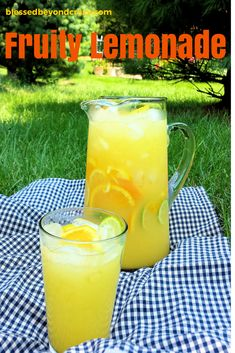 Refreshing Fruity Lemonade - Naturally gluten free and non-alcoholic, but you can always add a bit of liqueur and make it an adult drink. ~ This would be even better with fresh-squeezed lemons and the addition of a grapefruit for a pop of pink. Old Fashioned Homemade Lemonade, Homemade Lemonade Recipes, Summertime Drinks, Summer Drinks, Best Lemonade, Lemonade Drink, Wine Drinks, Beverages, Country Time Lemonade