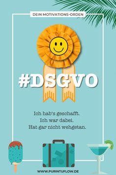 Die DSGVO (Datenschutz-Grundverordnung) tritt am 25.5.2018 endgültig in Kraft. Das betrifft auch alle kreative Selbstständige mit Internetauftritt. Deswegen findest du 4 Lastminute-Links zur Umsetzung. Und nach getaner Arbeit gibt es den virtuellen DSGVO-Orden für dich und dein kreatives Business!