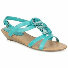 Another great sandal for summer from @Clarks USA  ! #turquoise #sandals #shoes #wedges #summer