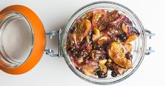 Roast figs and shallots in vinegar, thyme and honey for an easy sweet-and-sour condiment.
