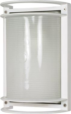Nuvo Lighting Semi Gloss white One-Light Outdoor Wall Mount with Frosted Glass Diffuser Modern Outdoor Wall Lighting, Outdoor Ceiling Fans, Outdoor Wall Sconce, Outdoor Walls, Wall Sconce Lighting, Wall Sconces, House Lighting, Thing 1, Glass Diffuser