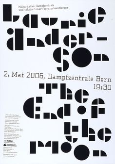 Ruedi Wyss – Laurie Anderson: The End of the Moon, Dampfzentrale Bern, 2006