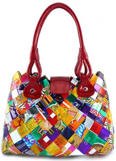 Ecoist! How cool is that : a handbag made from candy wrappers