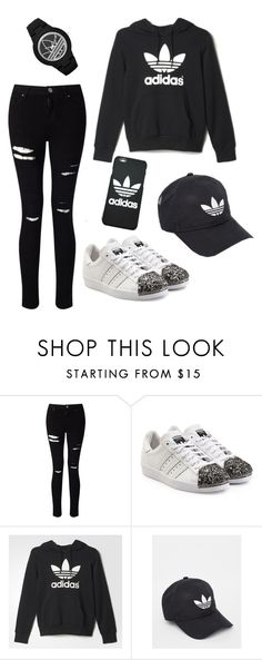 """Adidas Girl"" by recklessndivine ❤ liked on Polyvore featuring Miss Selfridge, adidas Originals and adidas"