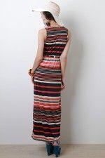 Stripe Savvy Maxi Dress #urbanog