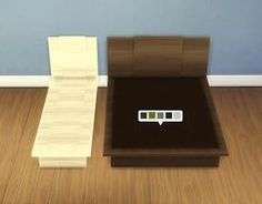 """Mod The Sims - """"Emi""""/""""Uto"""" Bed Frames"""