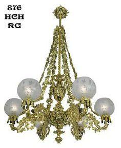 Antique Lighting Reproduction Victorian Chandelier - Neo Rococo Cornelius Grape & Leaf 6 Light Chandelier (876-HCH-RG)