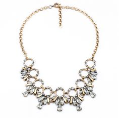 Diva Charms bijuterii de designer, placate cu aur | Colier Sparkling Circle