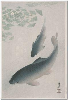 Carp Ohara Shōson (Koson) (Japan, 1877-1945) Japan, 1926 Prints; woodcuts Color woodblock print