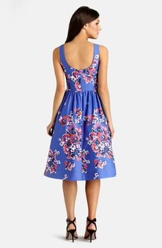 Super cute Easter/ Mothers day dress Donna Morgan Print Cotton Midi Dress  available at