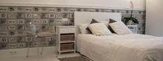 Bedroom, white, wallpaper