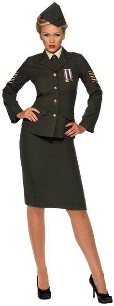 wartime officer female adult costume | (large)