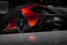 McLaren showed the P1 design study at the 2012 Paris Motor Show