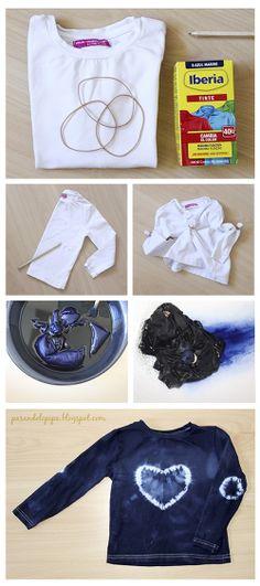DiY camiseta tie dye para cubrir una mancha ¡hazlo en menos de media hora! www.pasandolopipa.blogspot.com