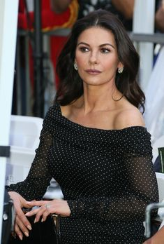 dea535eaf5 Catherine Zeta Jones wearing Dolce&Gabbana at the Michael Douglas Star  On The Hollywood Walk