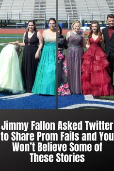 How well do you remember your prom? Was it a magical evening filled with sparkling formal wear, fragrant corsages, killer dance moves and the excitement of young love? Or was it about a million times more depressing than that? Strapless Dress Formal, Prom Dresses, Formal Dresses, Popular Now, Bad Tattoos, Young Love, Jimmy Fallon, Celebs, Celebrities