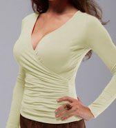 Блузка с драпировкой. Готовая выкройка для полных. Обхват груди: 104 108 112 Обхват талии: 82 88 94 Обхват бедер: 108 112 116