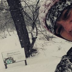 Stewardship Coordinator Dana snapping a quick selfie at our Beckwith Nature Preserve #MichiganSelfies #NaturePreserve